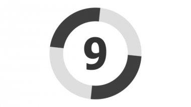 Countdown 10s - seamless loop — Stock Video