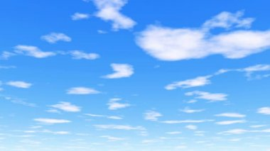 Under the clouds - clear white clouds and vibrant blue sky — Stock Video