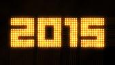 Year 2015, quadratic array of flickering lights — Stock Photo