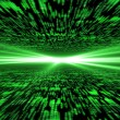 Matrix 3d - flying through energized cyberspace, light on the ho — Stock Photo #65172389