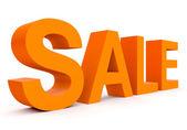 Verkoop - oranje 3d brieven geïsoleerd op wit — Stockfoto