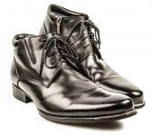 Moderne stiefel isoliert auf weißem hintergrund — Stockfoto