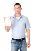 Man showing placard — Stock Photo