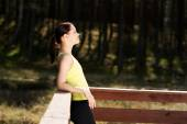 Woman relaxing after running — Stock Photo