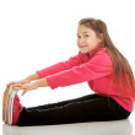Girl doing gymnastics exercise — Stock Photo #57079867