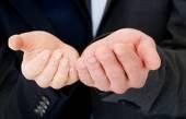 Ręce w żądanie gest — Zdjęcie stockowe