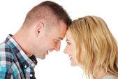 Couple eye contact — Stock Photo