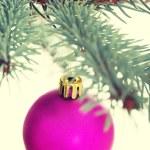 Christmas ball handing on a twig — Stock Photo #58545071