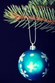один рождественский бал, вручение на веточку. — Стоковое фото