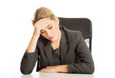 Businesswoman tired of work — Stock Photo