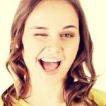 Beautiful young woman face. — Stockfoto #59639221