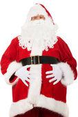 Portrait of Santa Claus grabbing his belly — Stock Photo