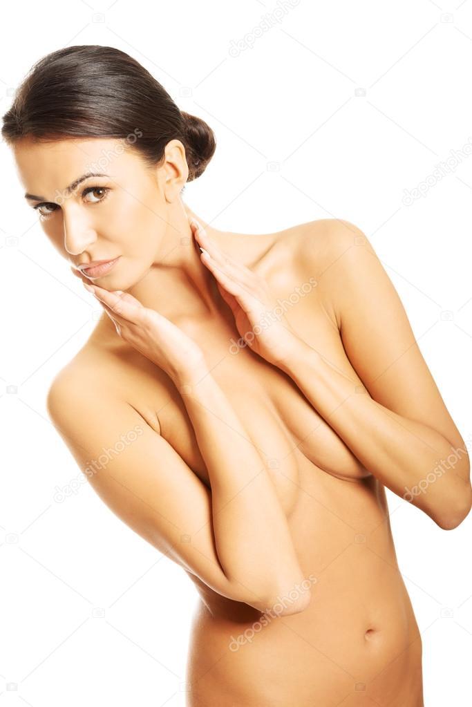 Girl boy body paint nude beauty