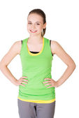 Portrait of sporty woman looking at the camera — Stock Photo