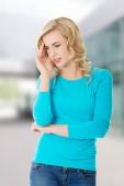 Endişeli kadın — Stok fotoğraf
