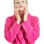 Women getting facial mask — Stock Photo #61754649