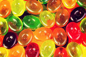 Close up on colorful boiled sweets. — Stockfoto