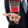 Man holding shopping cart — Stock Photo #64791865