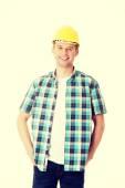 Handsome engineer in helmet — Stock Photo
