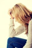 Sad and depressed woman. — Stock Photo