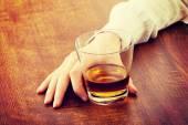 Woman drinking alcohol — Stock Photo