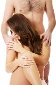 Man with naked woman — Stock Photo