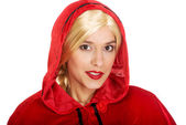 Woman in Little Red Riding Hood. — Stock Photo