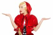 Woman as a Little Red Riding Hood. — Stock Photo