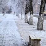City alley. Winter. — Stock Photo #60981421