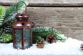 Lantern in the snow  — Stockfoto