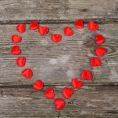 Heart of red small hearts  — Stock Photo