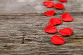 Red small hearts — Stock Photo