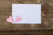 Hearts  and greeting card  — Foto de Stock