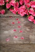 Bouquet of pink roses and heart   — Foto de Stock
