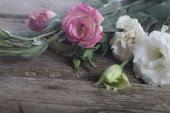 Bouquet of flowers eustoma — Stock Photo