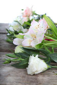 Beautiful bouquet of different flowers — Stock Photo