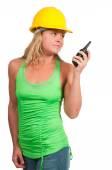 Trabalhador da construção civil feminino — Fotografia Stock