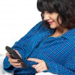 Woman Texting in Bed — Stock Photo #54627213