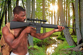Man with Assault Rifle — Stock Photo