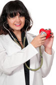 Beautiful Woman Cardiologist — Stock Photo