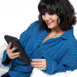 Woman Texting in Bed — Stock Photo #58167011