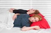 Married Couple in Bed — Stock Photo