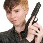 Woman with Gun — Stock Photo #61173079