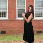 Woman with Gun — Stock Photo #66447731