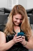 Beautiful Woman Texting — Stock Photo