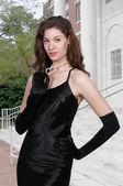 Beautiful Woman in a formal dress — Stock Photo