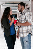 Man and Woman drinking — Stock Photo