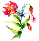 Original Summer flowers — Stockfoto