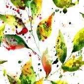 Patrones sin fisuras con hojas verdes — Foto de Stock