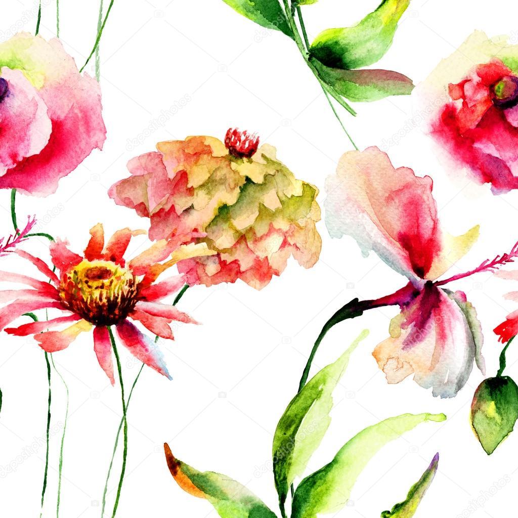 Стилизованные цветы картинки